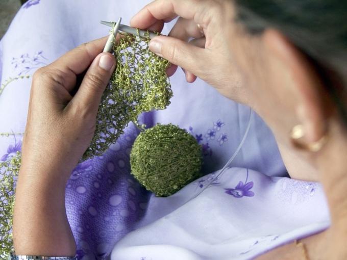 Как вязать оборку