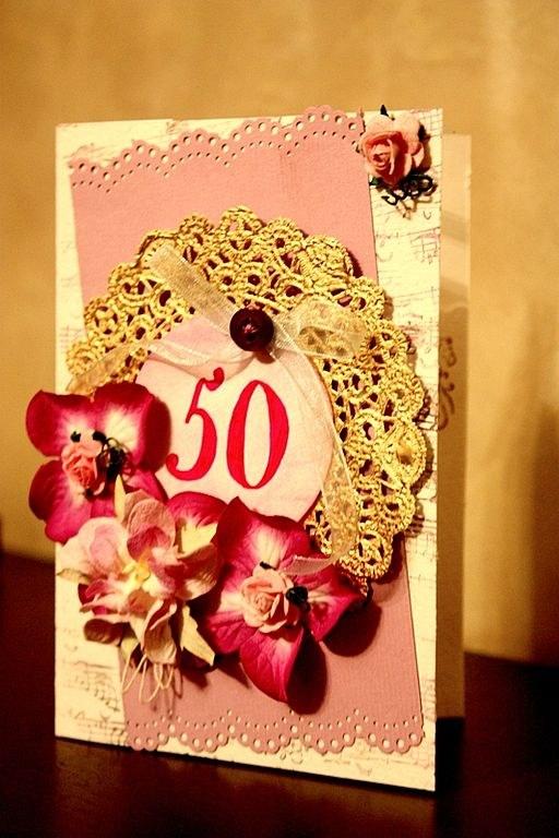 Для кумихимо, открытка 50 лет женщине своими руками фото