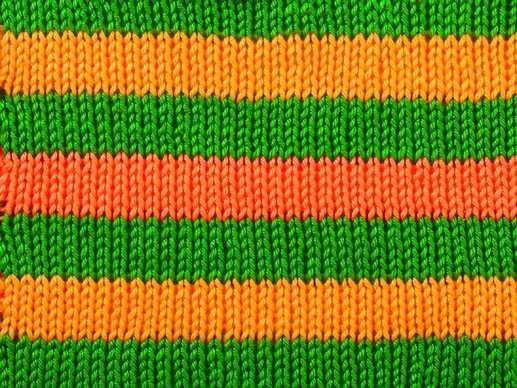 How to knit the front stitch