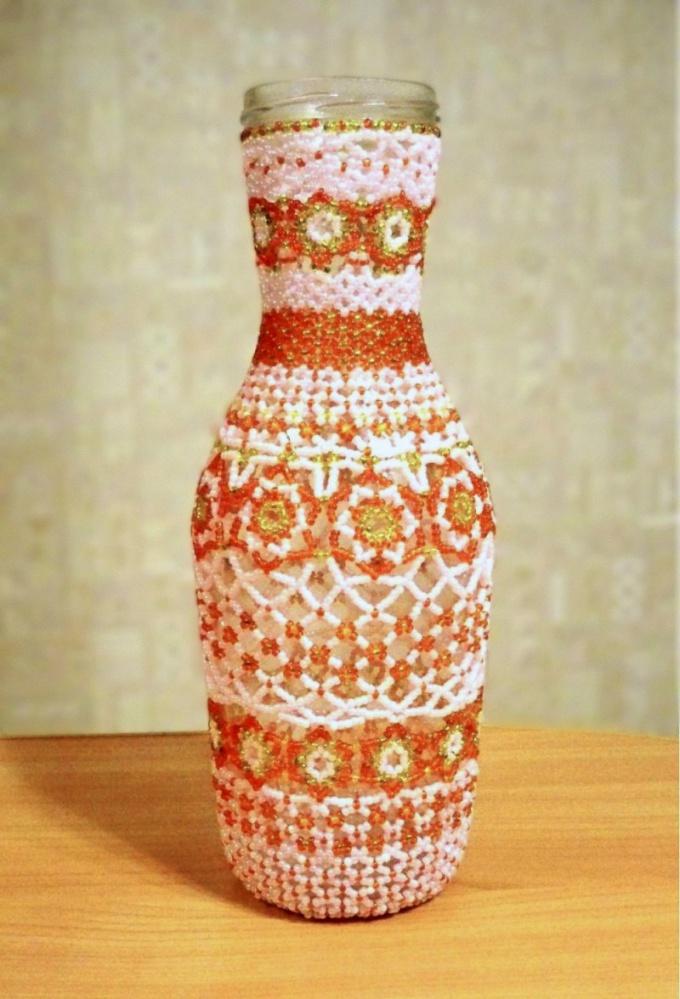 Бутылки своими руками с бисером