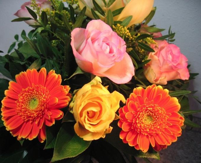 Как сделать цветочный букет