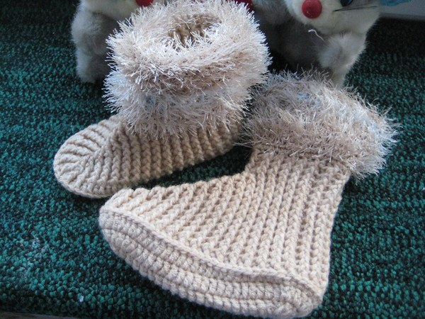 How to knit baby socks crochet