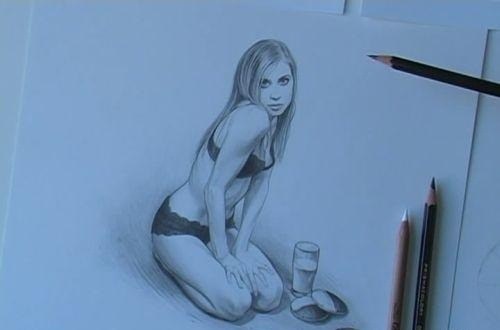 How to draw naked girls pencil