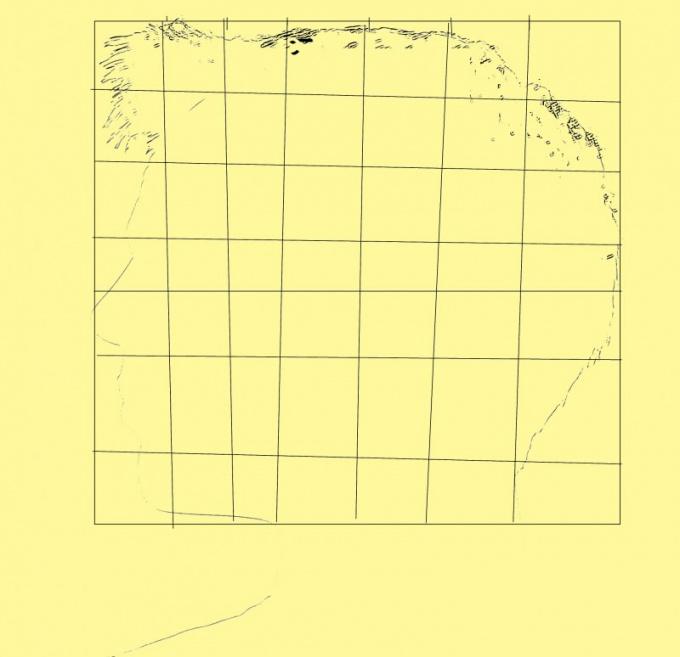 Набросайте сетку из расчета 7 частей по верикали и столько же по горизонтали