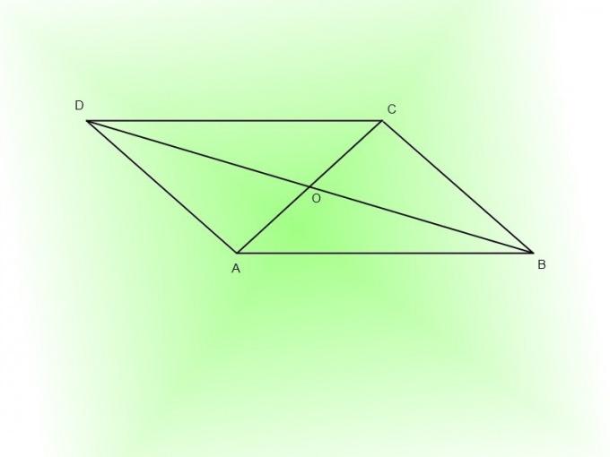 Постройте параллелограмм, проведите диагонали