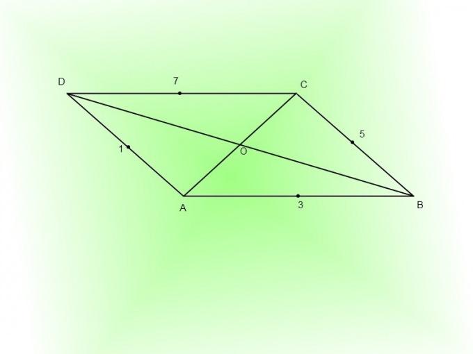 Подметьте середины сторон параллелограмма