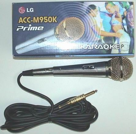 Microphone for karaoke with connector 6,3 Jack
