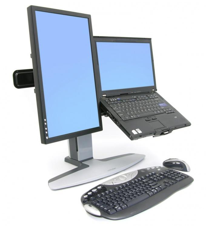Как к ноутбуку подключить второй монитор