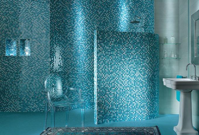 Как выложить мозаику в ванной