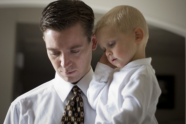 How can a father take a child in a divorce