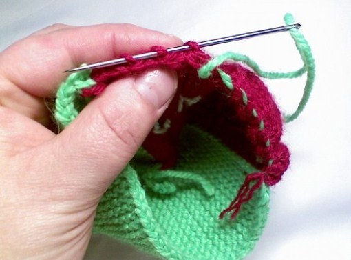 How to knit needle