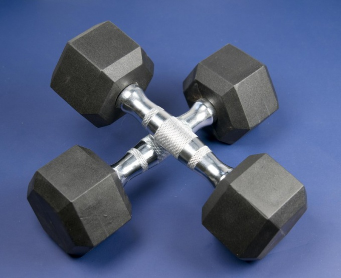 Use dumbbells and barbells