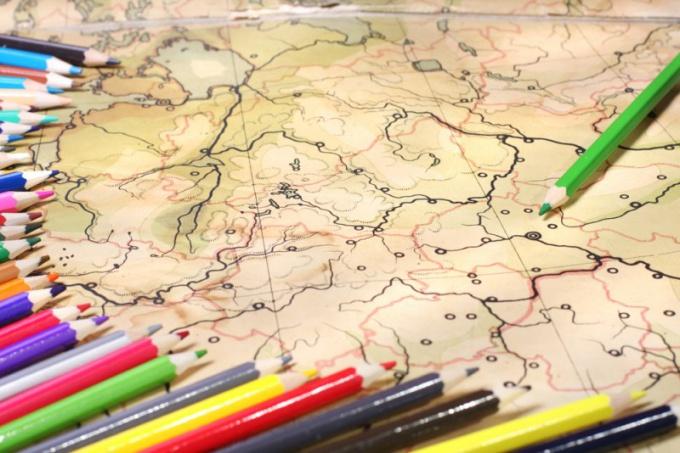 Как делать контурные карты