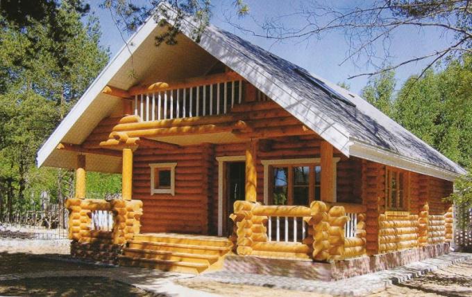As sheathing plasterboard wooden house