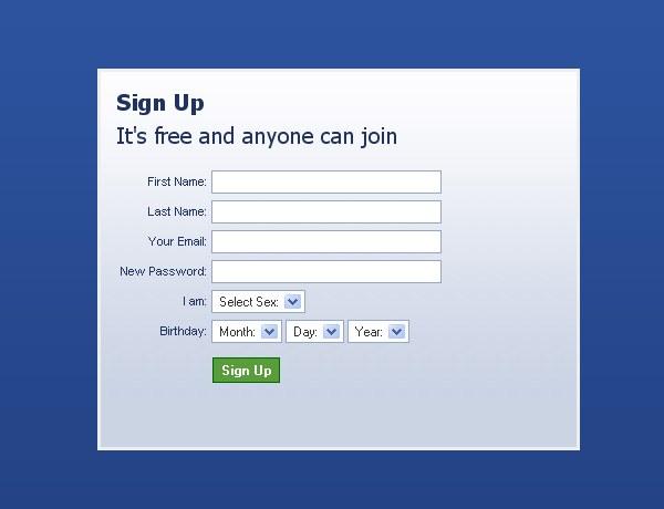 Регистрация на своем сайте