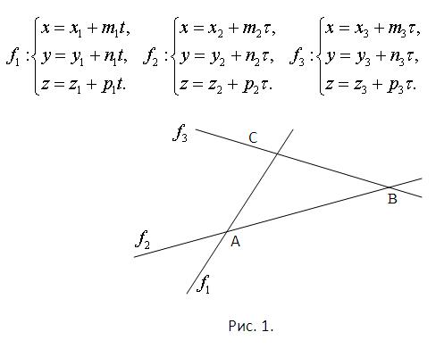 Как найти площадь треугольника, образованного прямыми