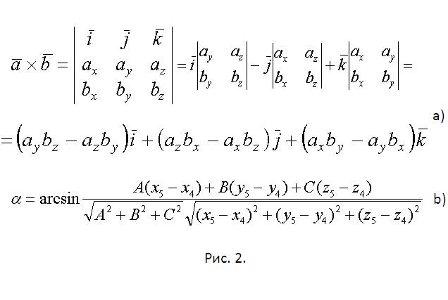 Как найти <b>угол</b> между <strong>прямой</strong> и <em>плоскостью</em>, если даны точки