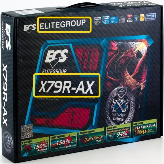 На коробке от устройства вы всегда найдете информацию о производителе и модели