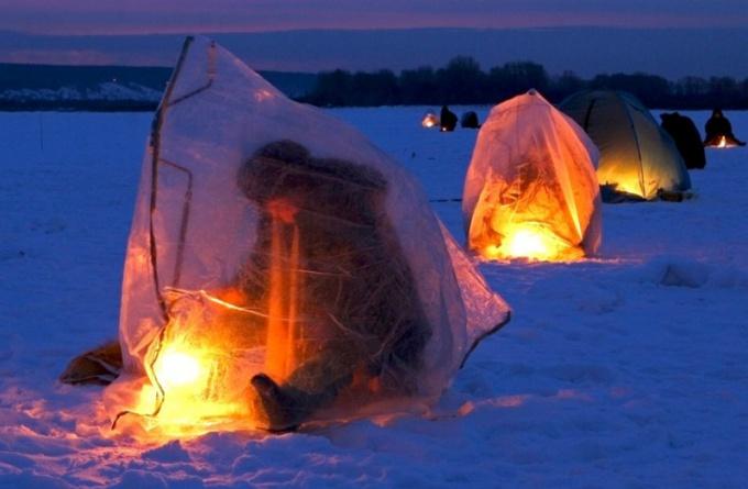 Как отопить палатку