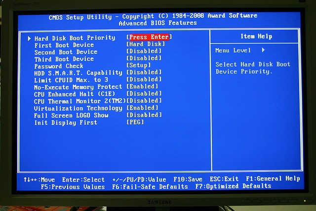 How to call the BIOS on the laptop