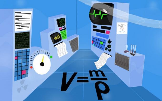 Как найти объем в физике