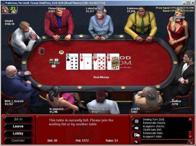 Покер румы отличаются внешним видом и предоставляемыми условиями игры