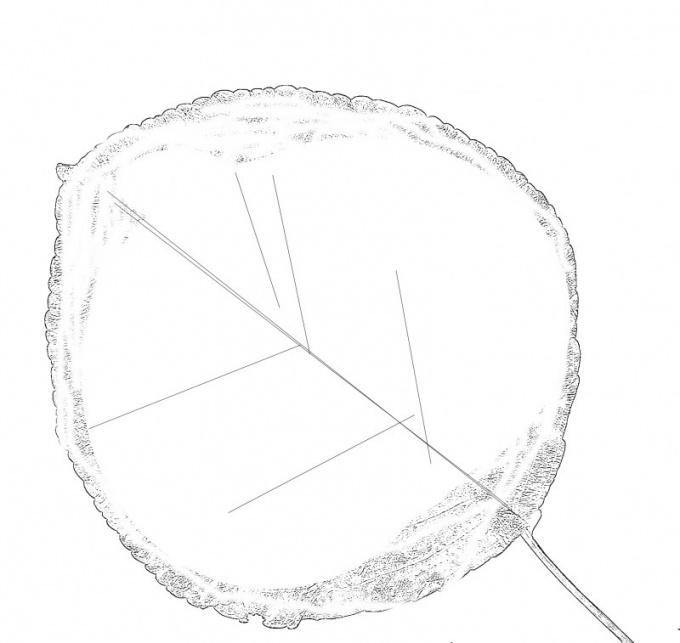 Нарисуйте симметричный круглый листик