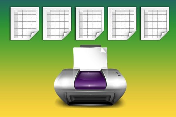 Как напечатать таблицу