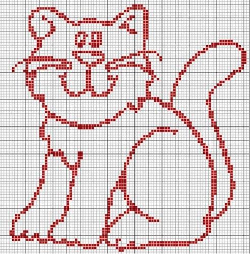 Одна из возможных схем для вязания картинки на кофте