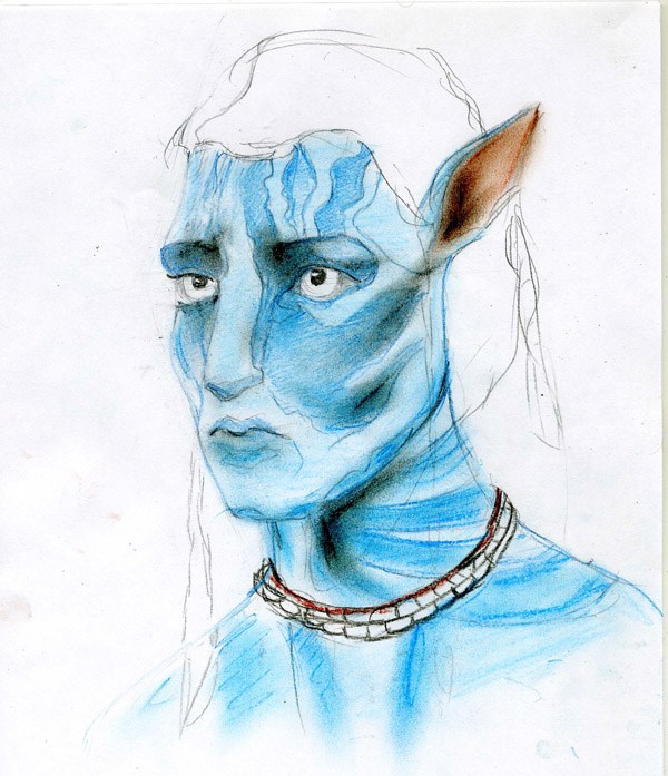How to draw <strong>Avatar</strong> <b>pencil</b>