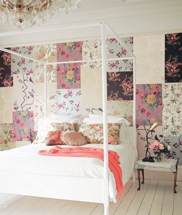 Patchwork is a method of wallpapering