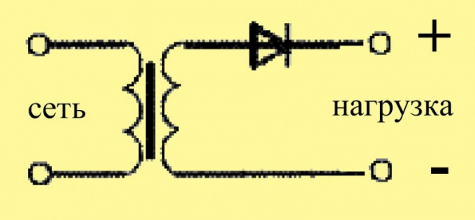 Подключите к обмотке полупроводниковый диод