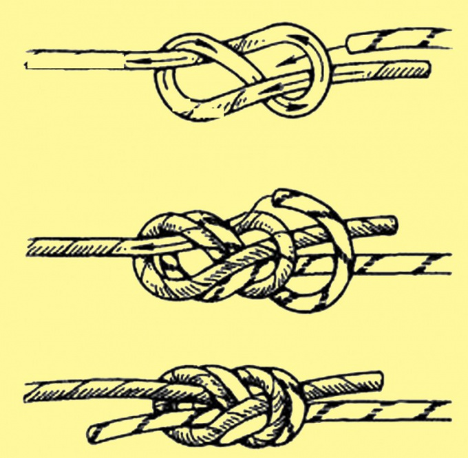 Fold the end of the cord loop