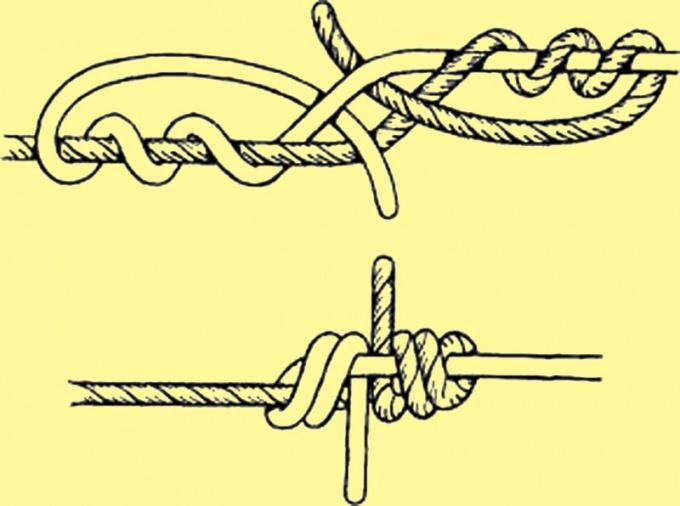 Змеиный узел подойдет для синтетических шнуров