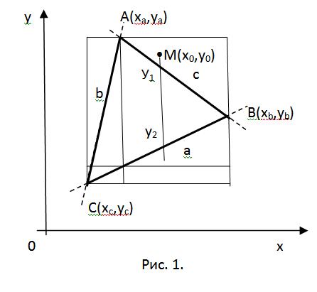 Как доказать, что точка не лежит в плоскости треугольника