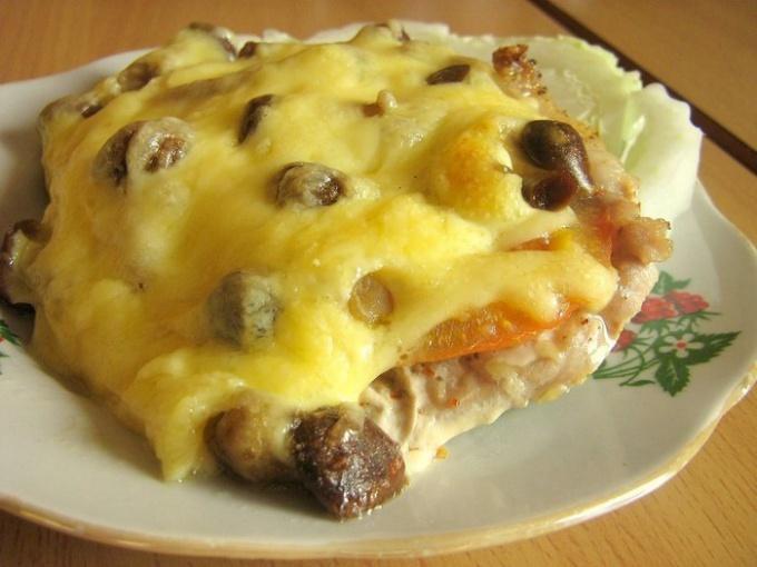 Как готовить мясо с грибами