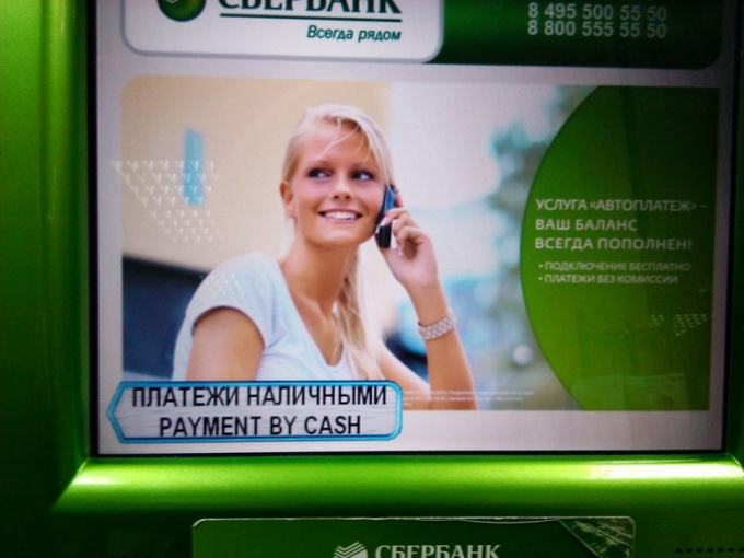How to pay via terminal Sberbank