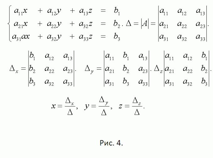 Как решить систему линейных уравнений