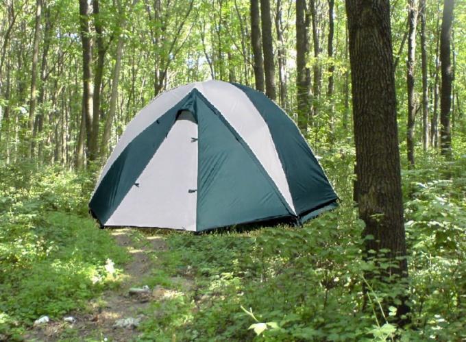 Как собрать палатку быстро