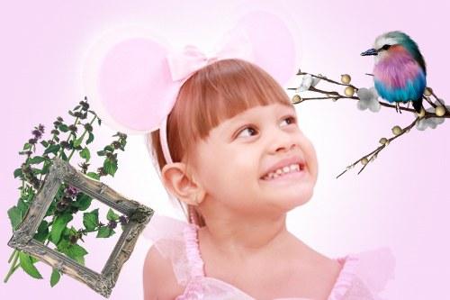 Как сделать детскую рамку в Фотошопе
