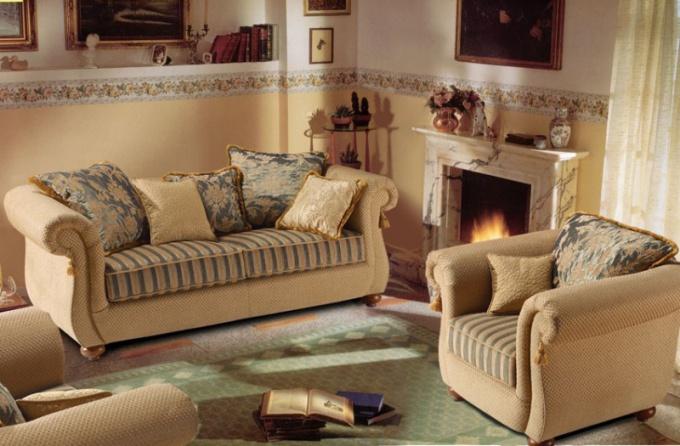 Как по цвету подобрать мягкую мебель