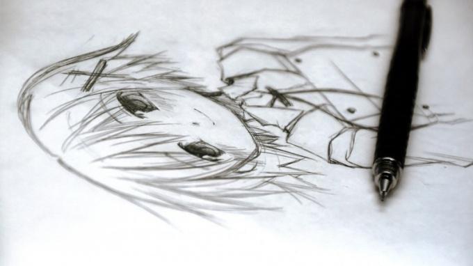 Как рисовать картинки с девушками из аниме