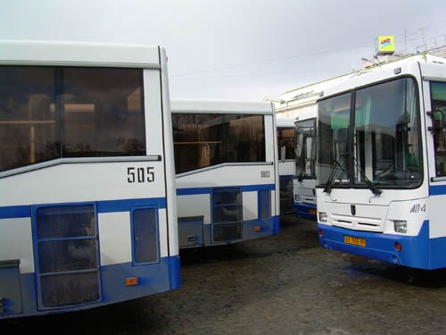 As buses in Yekaterinburg