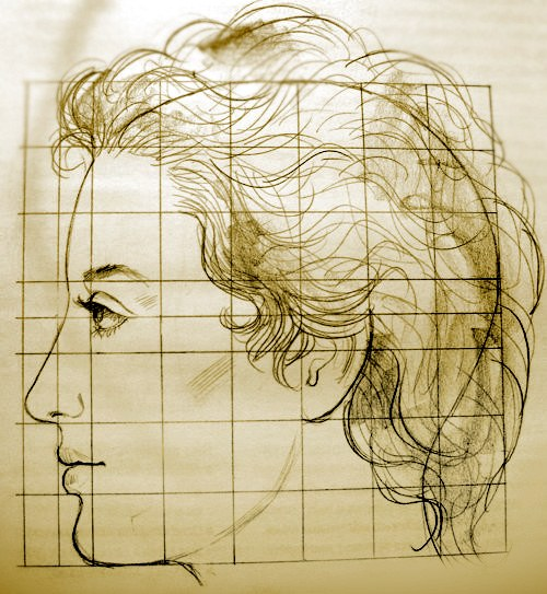 How to draw a person in profile