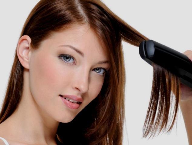 Как не сжечь волосы утюжком