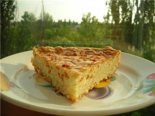 Как приготовить пирог с сырно-луковой начинкой