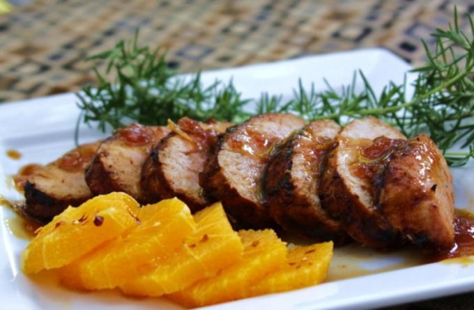 Как приготовить свинину в апельсинах