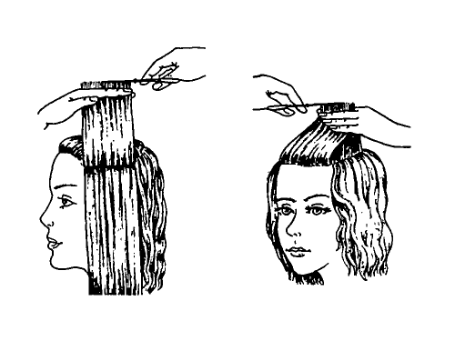 How to make a haircut cascade