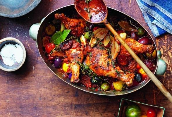 Как приготовить курицу, тушеную по-малороссийски