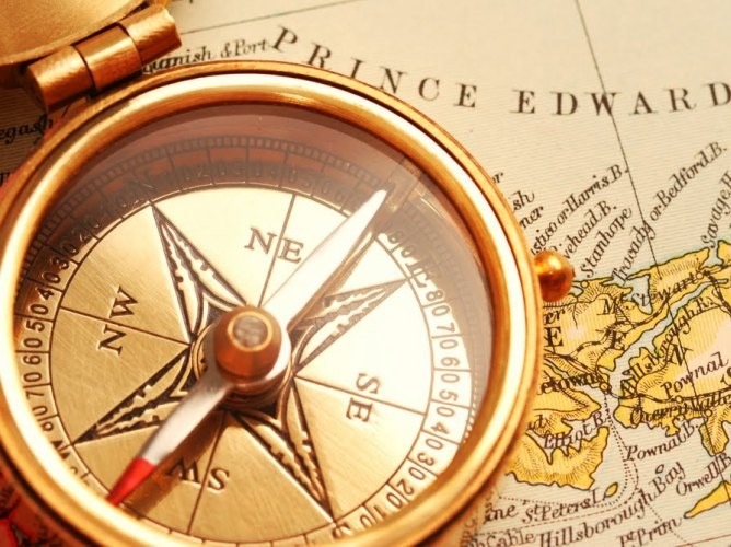 How to navigate by compass